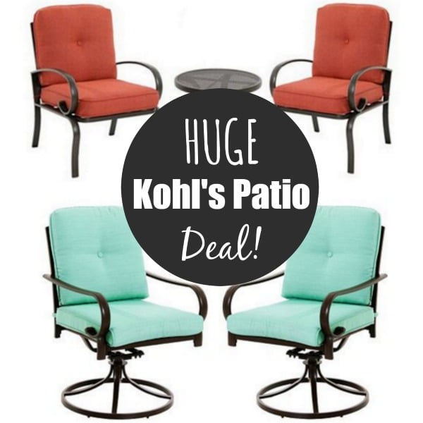 kohls patio deal - Kohl's SONOMA Patio Furniture Sets From $169! - Kasey Trenum