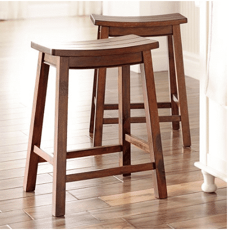 Kohl S Sonoma Saddle Counter Stools 2 Pack Only 43