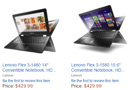 Lenovo Convertible Notebook Computers – Gold Box Deal Today!