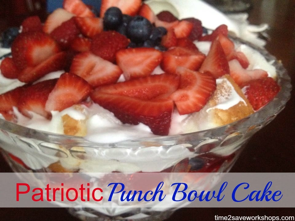 patriotic punch bowl cake