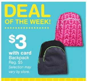 Walgreens Backpacks for $3 (Great for School Supplies Drives)