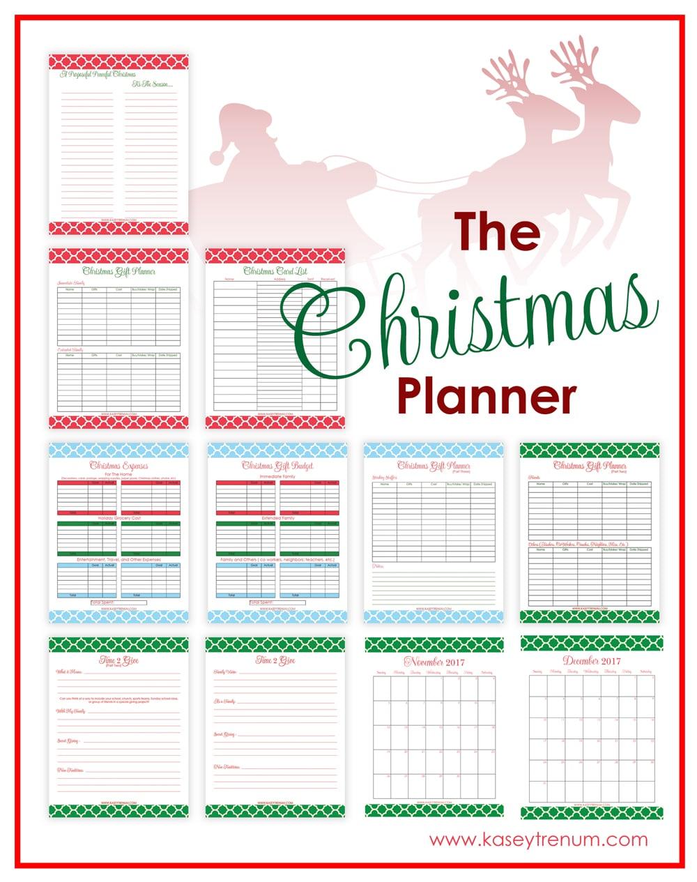 printable christmas planner: a purposeful peaceful christmas | kasey