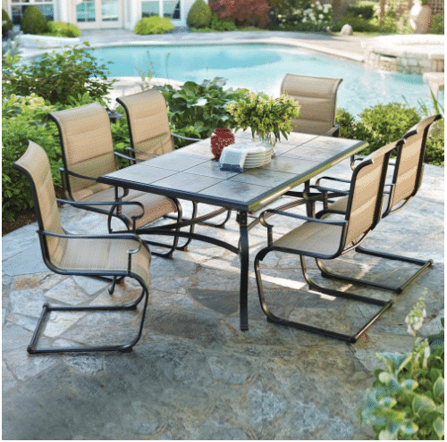 We're always looking for good patio furniture sales – and Home Depot just  marked down this nice set to only $399! - HOT* Patio Furniture Set On Sale At Home Depot! - Kasey Trenum