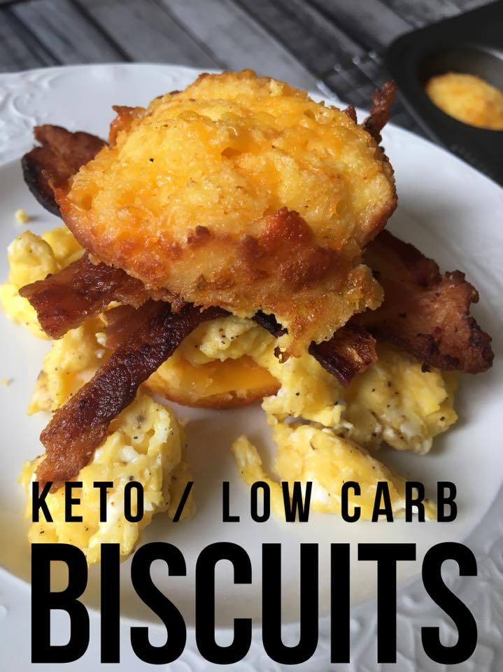 Low Carb Keto Biscuits Recipe is going to revolutionize your breakfasts on a ketogenic diet! These easy to make biscuits are versatile and delicious!