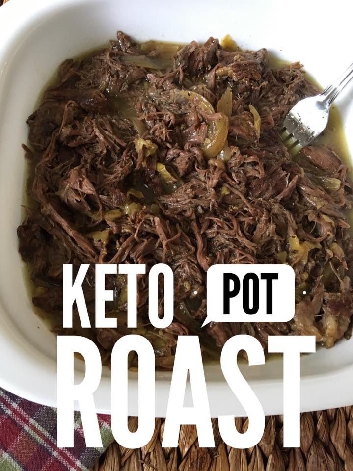 Keto Slow Cooker Pot Roast {low carb}