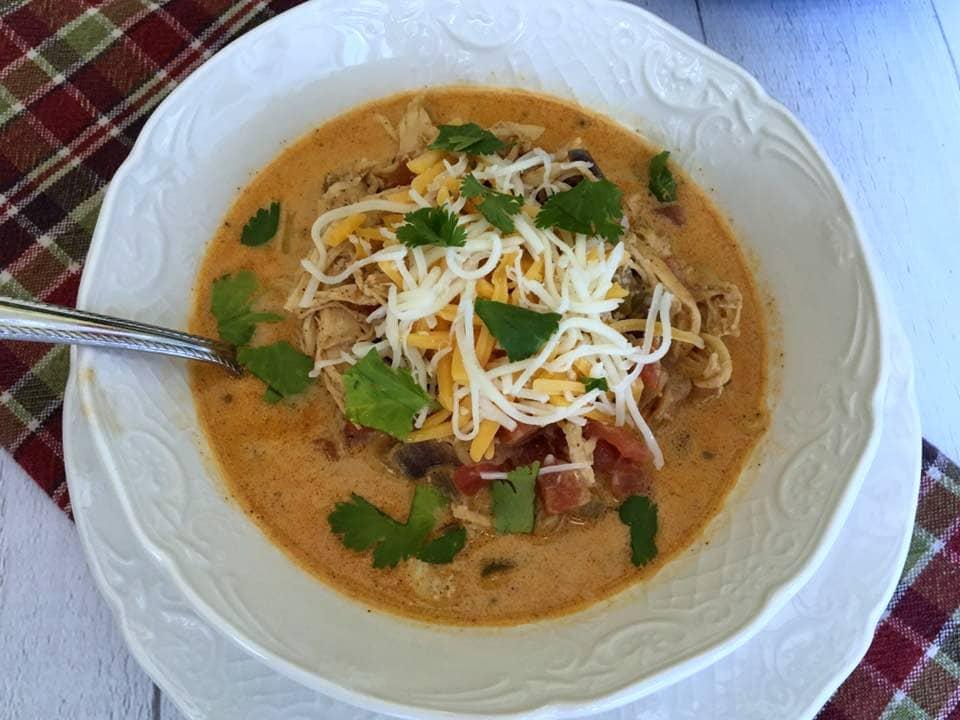 Low Carb Chicken Fajita Soup {Keto Friendly} - Kasey Trenum