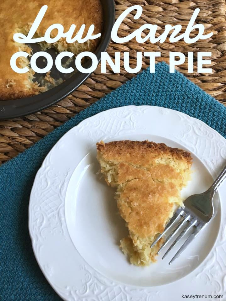 Low Carb French Coconut Pie {Keto Friendly}