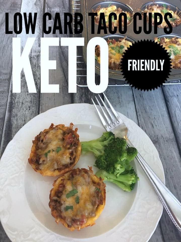 Low Carb Taco Cups {Keto Friendly}