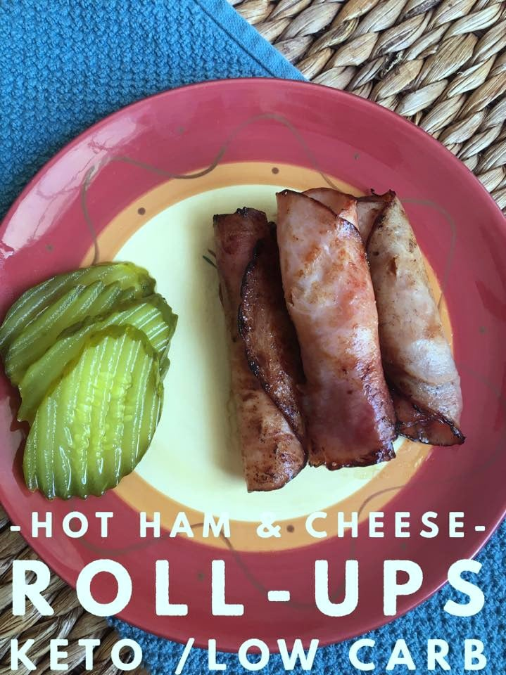 Hot Ham & Cheese Roll-Ups {Keto / Low Carb}