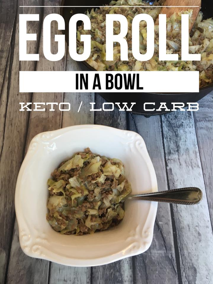 Keto Eggroll in a Bowl is a fast and easy recipe that is perfect for busy weeknights! Full of flavor without all the guilt, this will become a favorite!