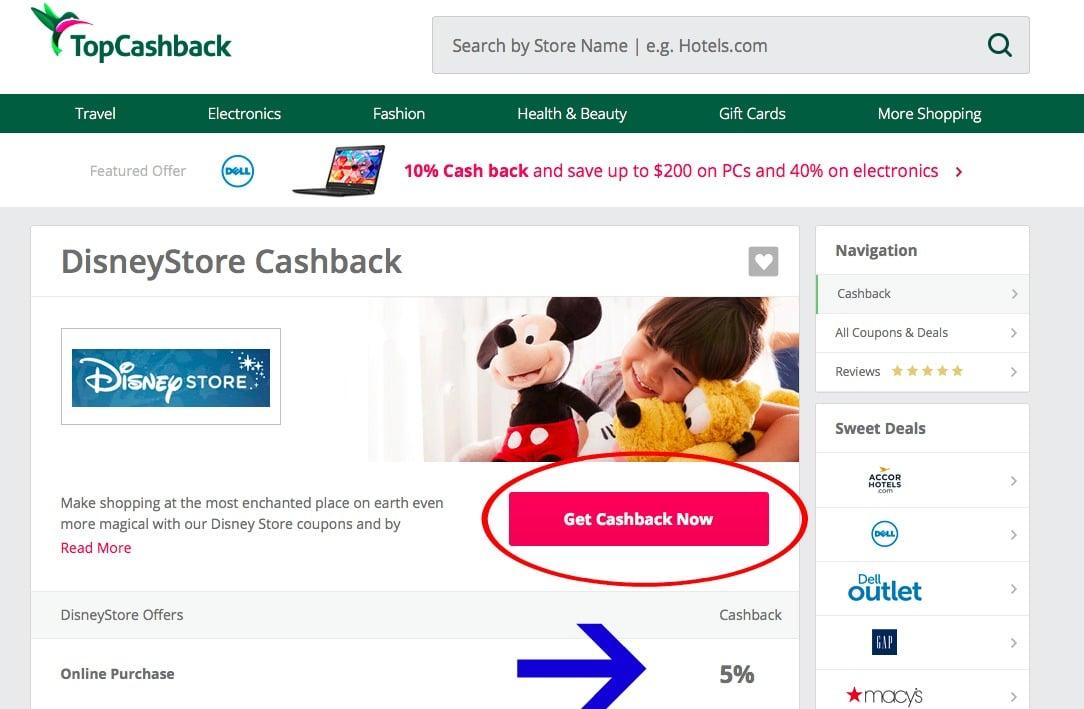 Get cashback now 5%