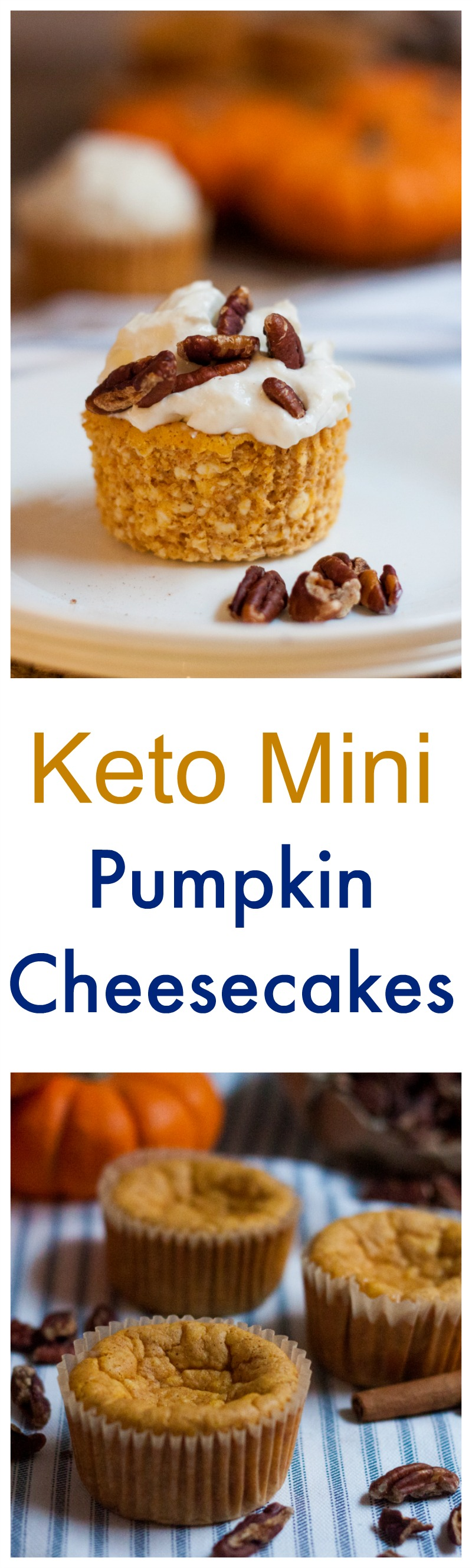 Make our Mini Keto Pumpkin Cheesecake Recipe for the holidays this year! Delicious, classic pumpkin flavor, without all of the carbs!