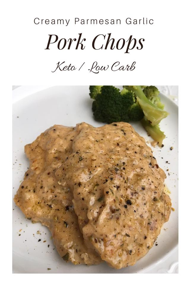 Creamy Parmesan Garlic Pork Chops {Keto / Low Carb}