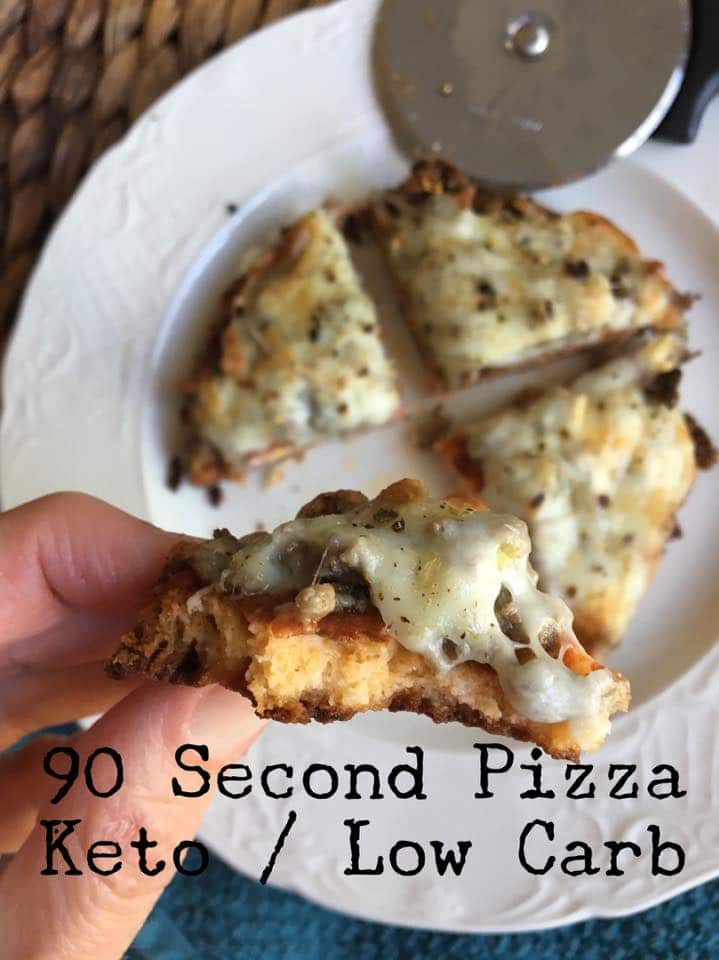 90 Second Personal Pan Pizza Recipe {Keto / Low Carb}