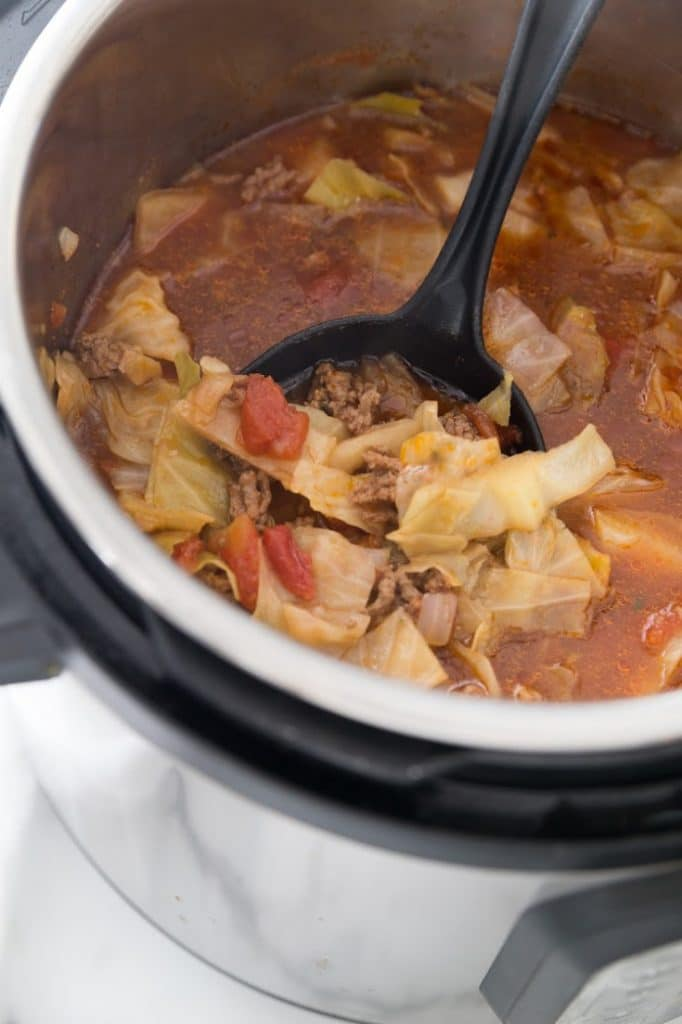 Keto cabbage soup in the instant pot