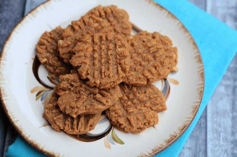 horizontal peanut butter cookie