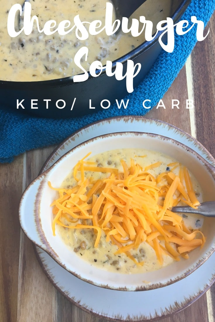 Cheeseburger Soup {Keto / Low Carb}
