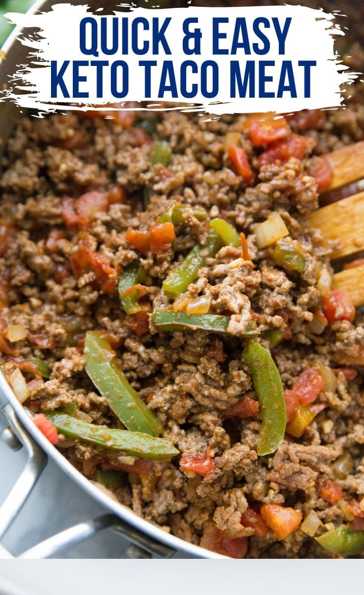 eays keto taco meat in a skillet