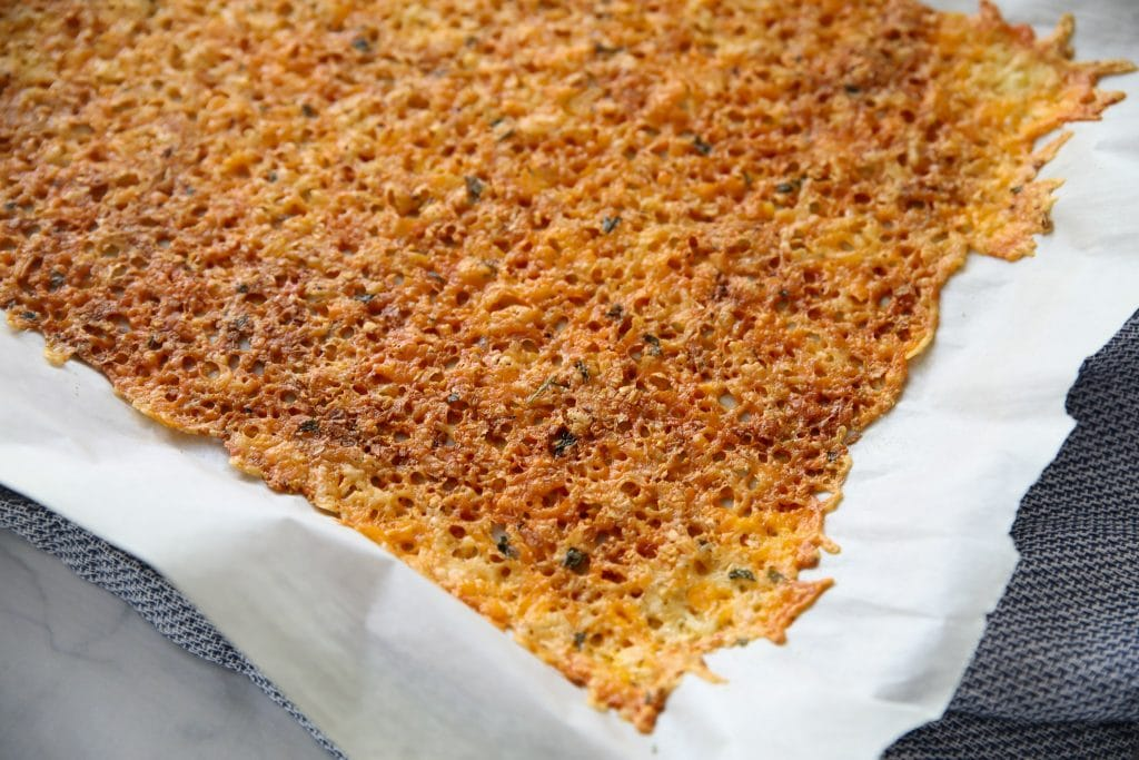 crispy baked cheese for the topping for the casserole
