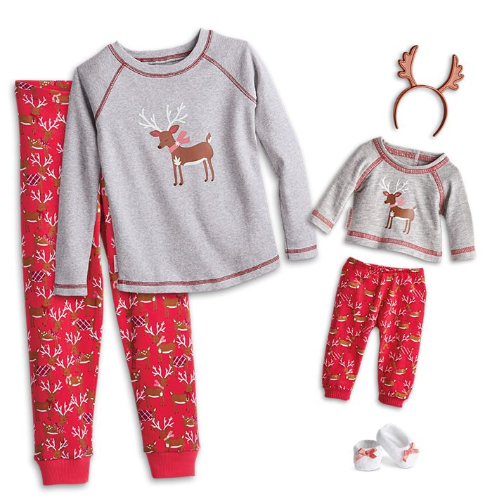Festive PJ's for little girls and baby dolls