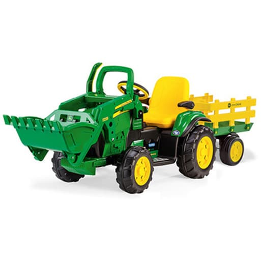John Deere Ride-On 12 Volt Tractor with Trailer