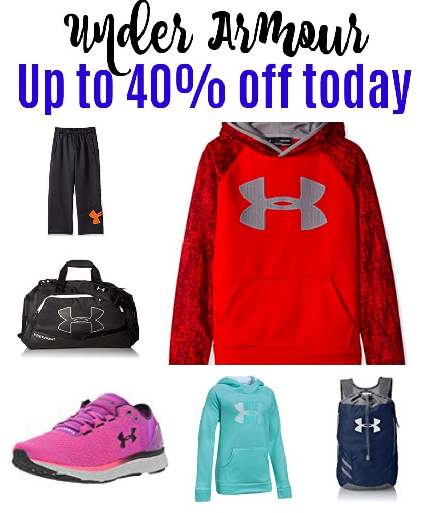 Under Armour 40% off today