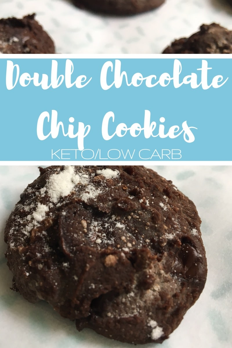 Double Chocolate Chip Cookies {keto/low carb}