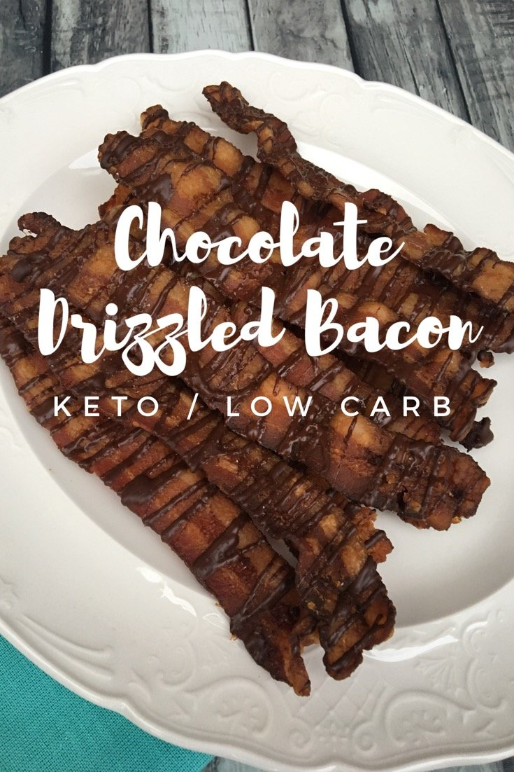Chocolate Drizzled Bacon {keto/low carb}