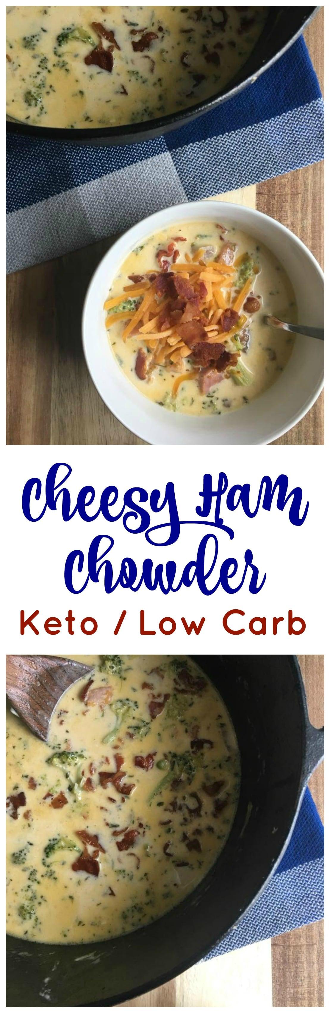 Cheesy Ham Chowder collage
