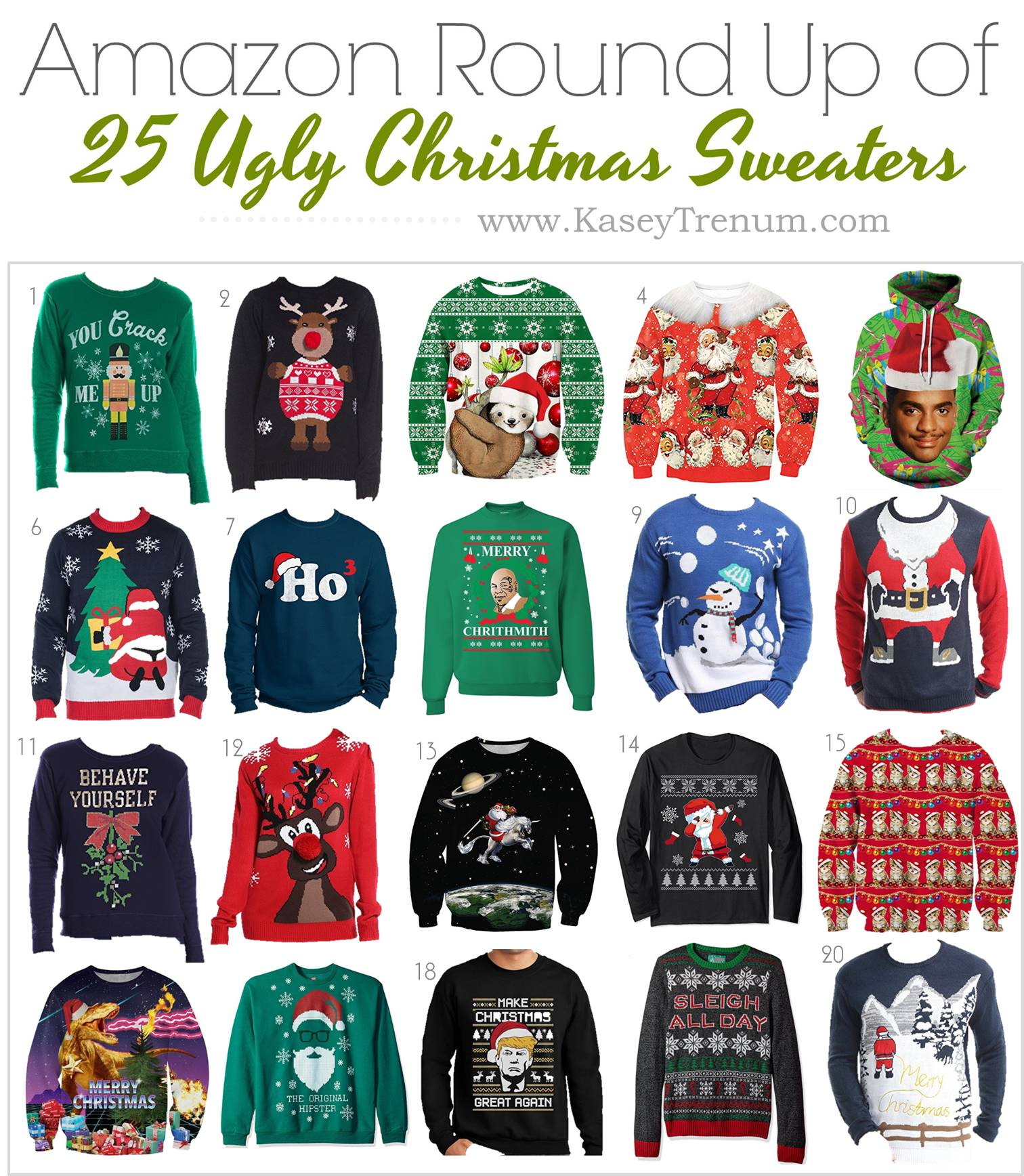 Round Up - 25 Ugly Christmas Sweaters TRENUM