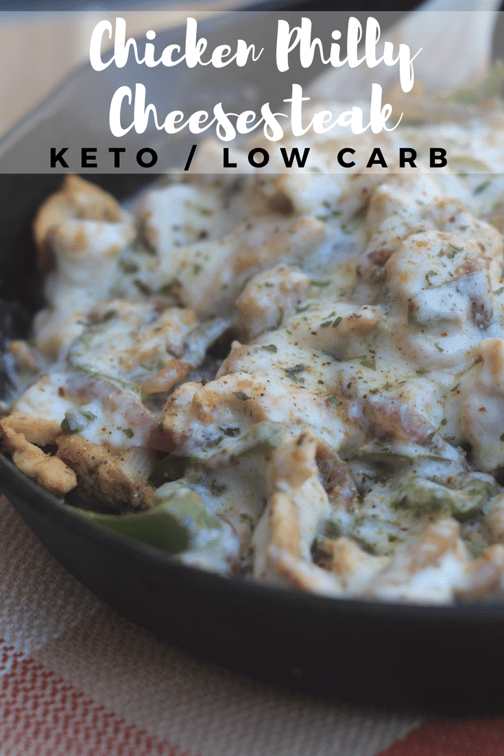 Chicken Philly Cheesesteak {Keto/Low Carb}