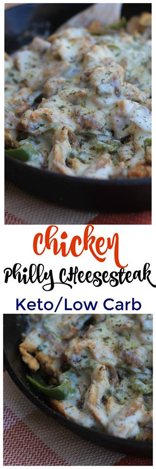 Make this Low Carb Chicken Philly Cheesesteak for dinner tonight to satisfy all of your cravings for cheesy goodness and flavor!