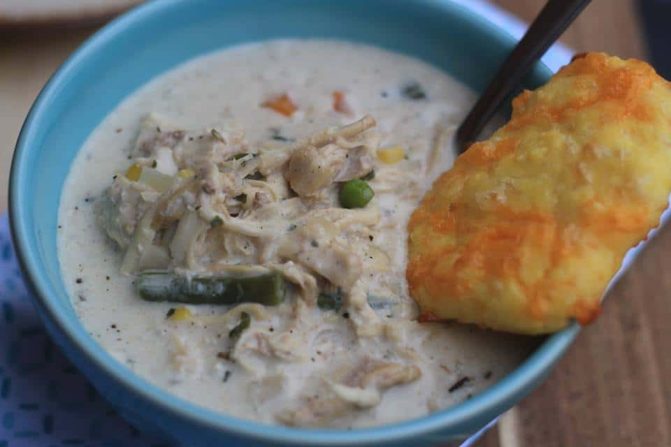 chicken pot pie with biscut