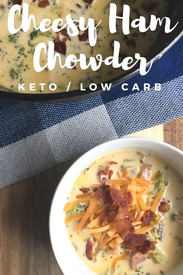 Cheesy Ham Chowder {keto/low carb}