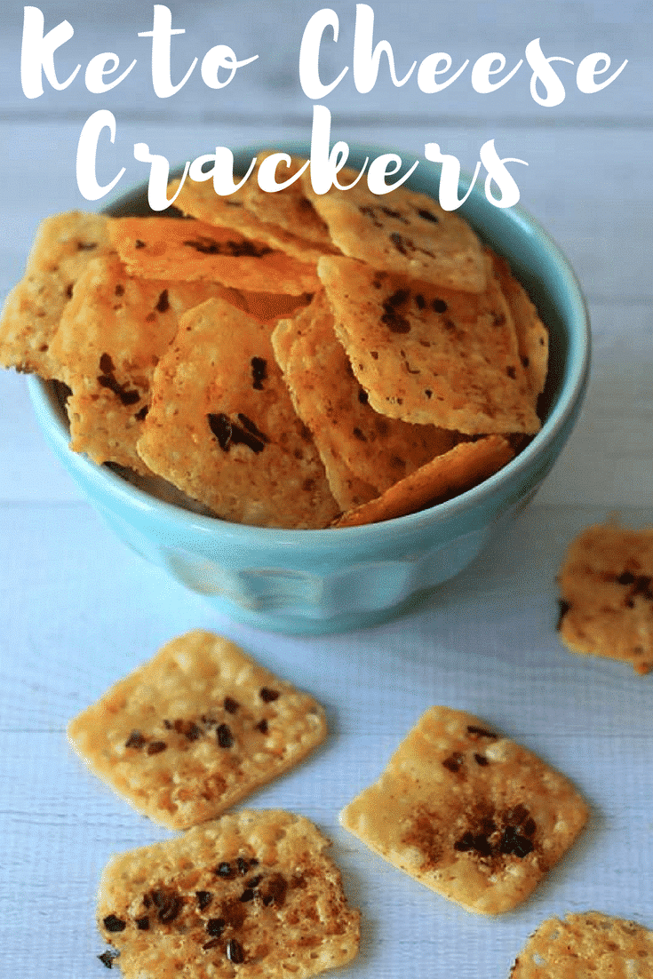 Keto Friendly Cheese Crackers {Low Carb}
