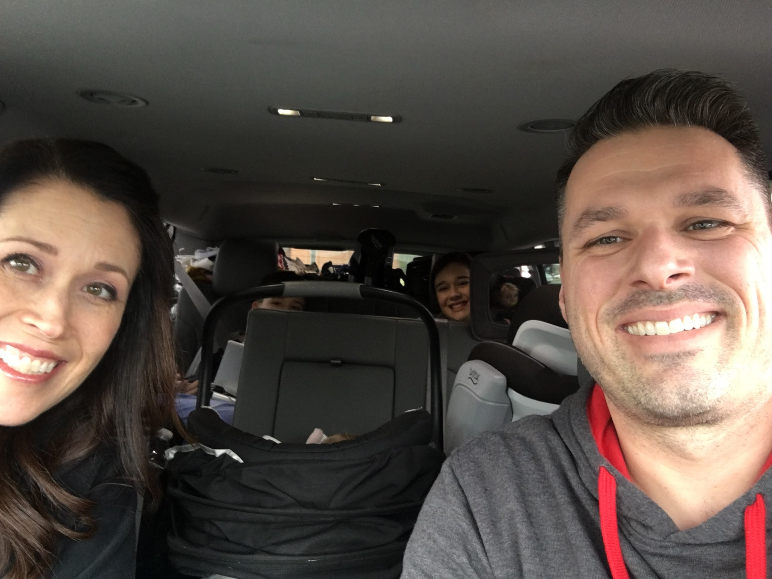car packed for family vacay