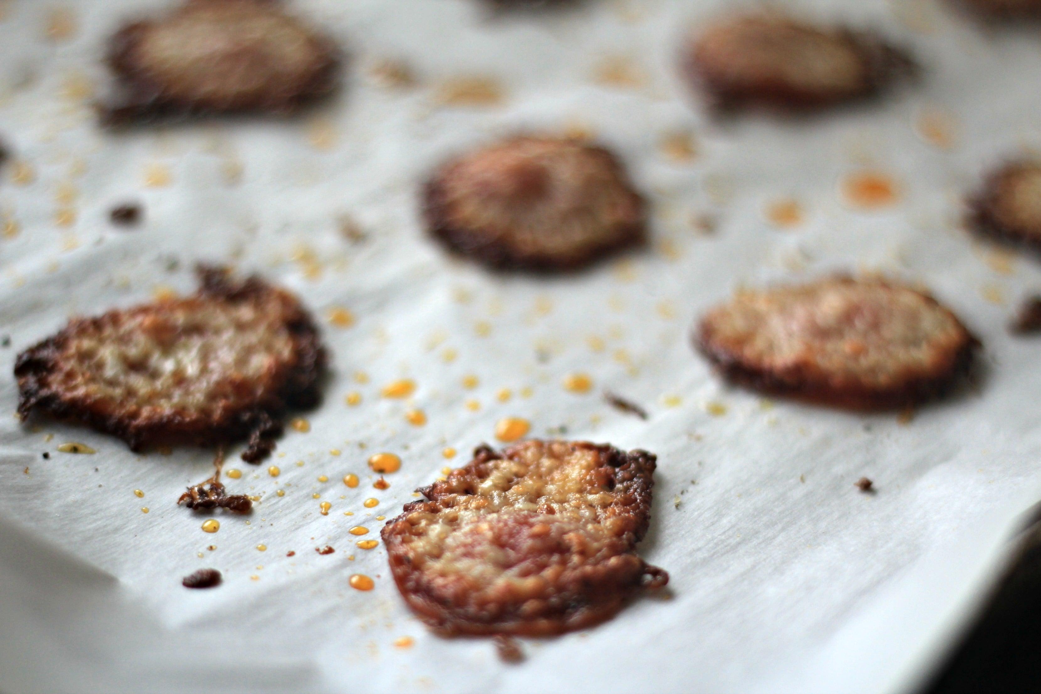 Keto Low Carb Snack Idea: Pepperoni Crisps Recipe