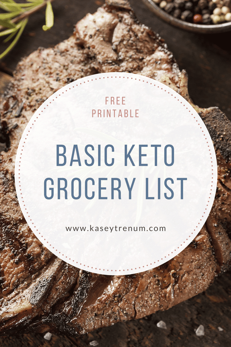 The Very Best Basic Keto Grocery List
