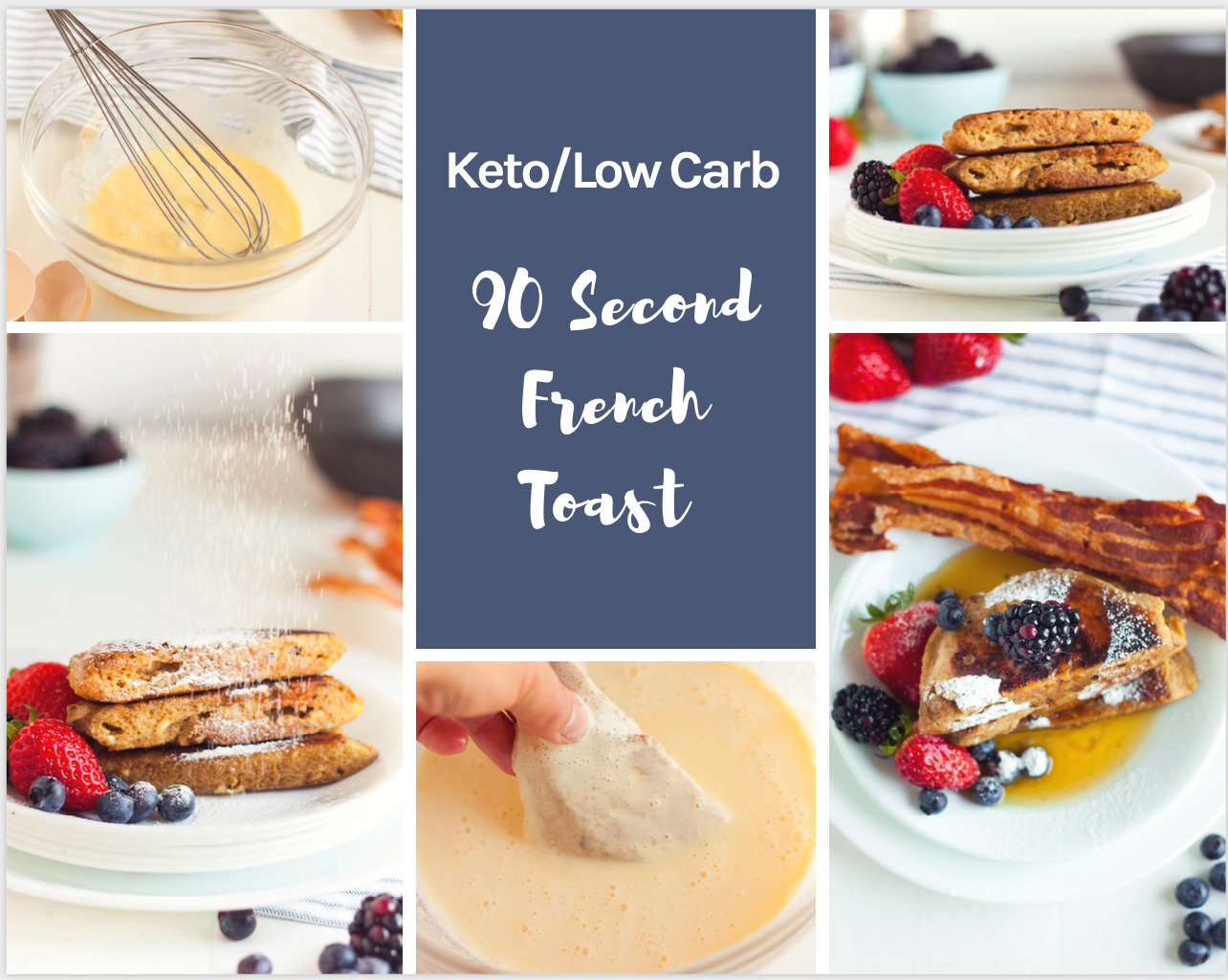 Keto French Toast is the ultimate breakfast recipe! This easy meal comes together in just minutes and is a perfect low carb keto breakfast idea!