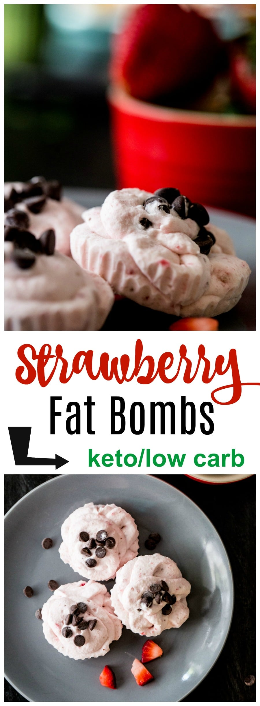 Make our Strawberry Keto Bomb Recipe as a great satisfying fat bomb recipe idea for your cravings. Top with some sugar-free chocolate for the perfect treat!