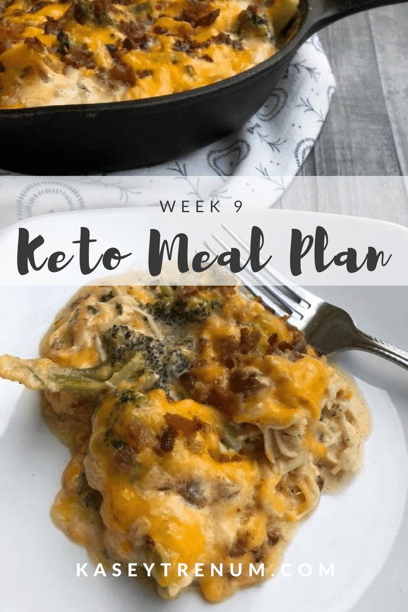 Keto Meal Plan Week 9