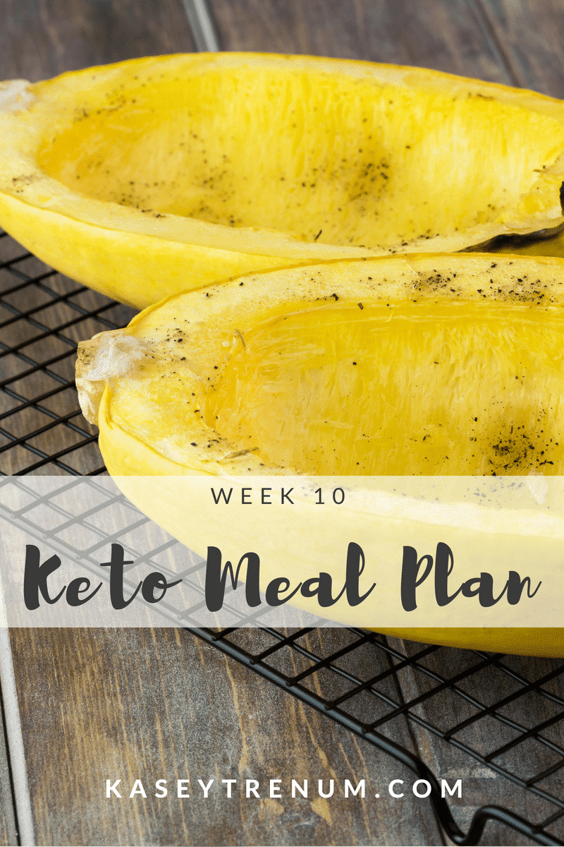 Keto Meal Plan Week 10