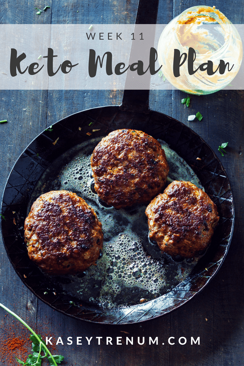 Keto Meal Plan Week 11
