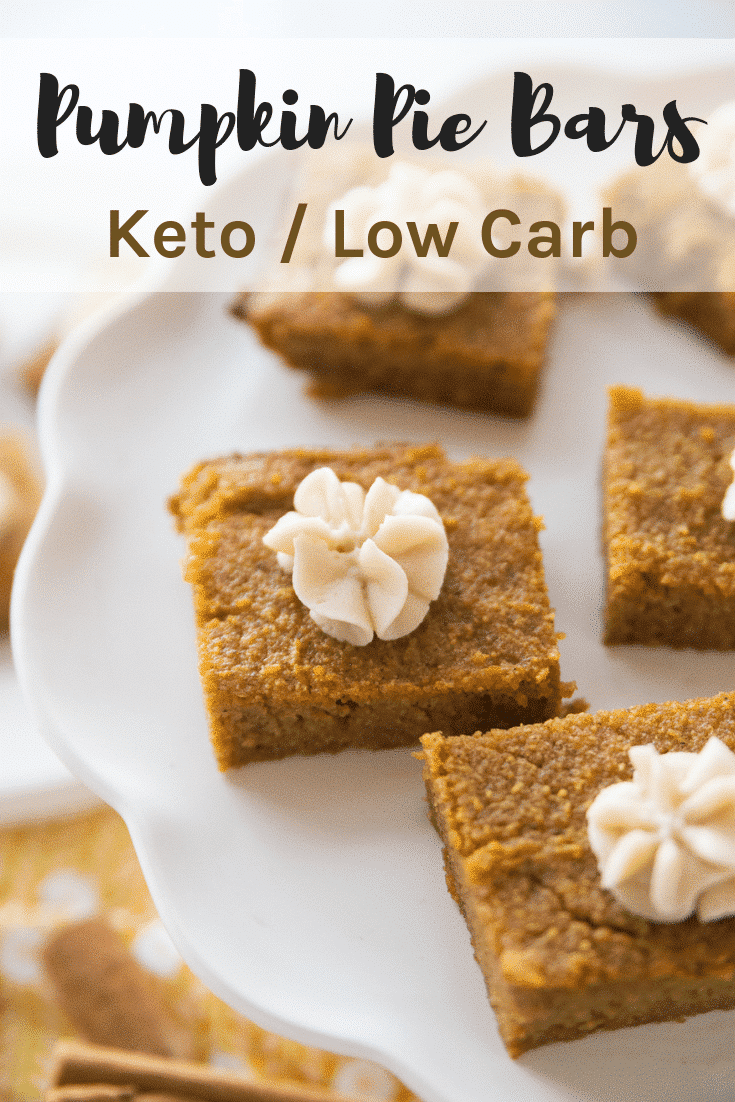 Keto Pumpkin Pie Bars / Mouthwatering & Delicious