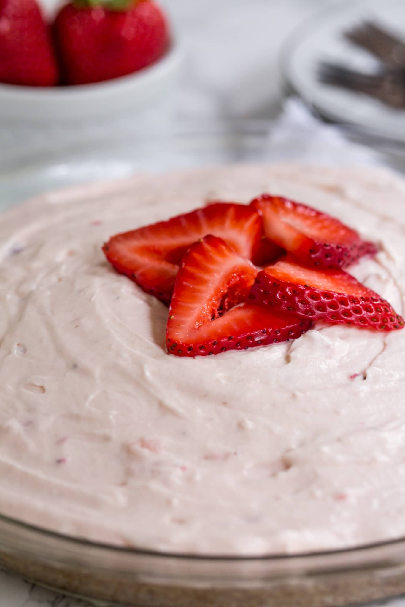 Easy Keto Strawberry Pie