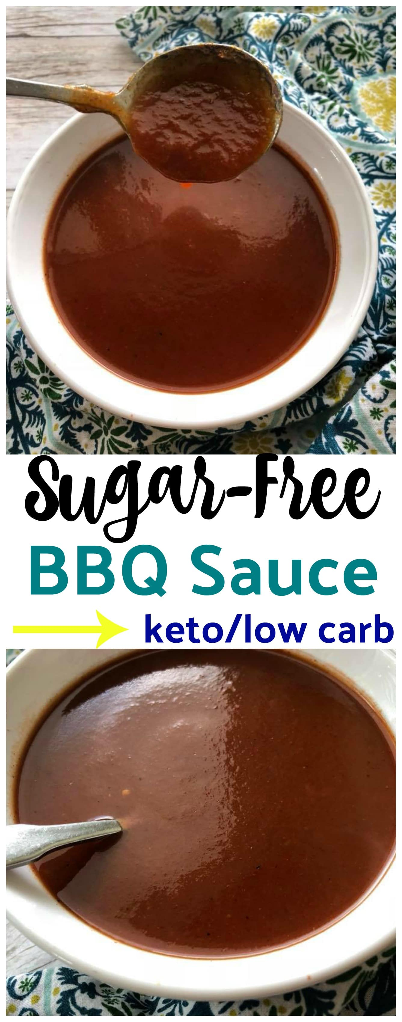 Homemade Sugar-Free  Low Carb BBQ Sauce {keto friendly} is so easy to make and it tastes delicious. It tastes just like my daddy's homemade sauce!