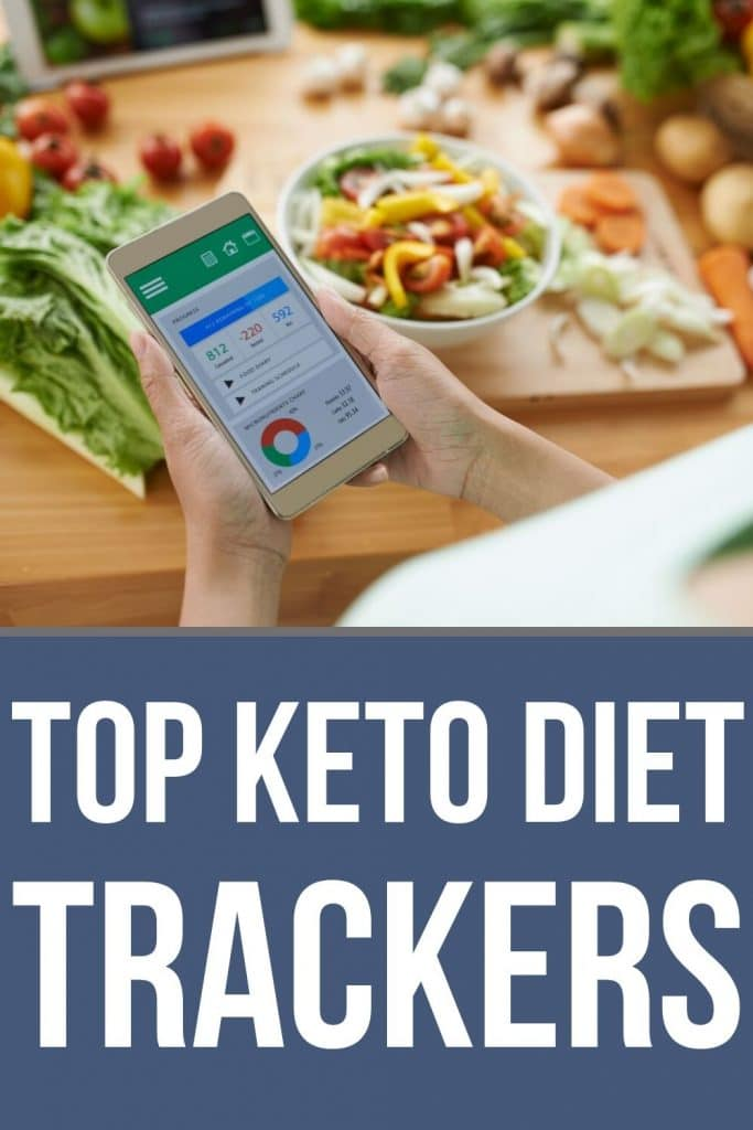 keto diet tracker on phone with food in the background