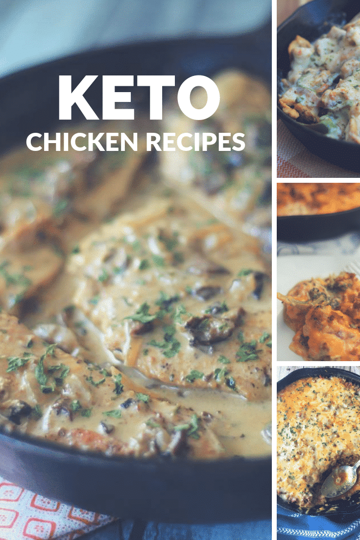 Make our Keto Chicken Recipes for dinner tonight! These delicious low carb chicken dinner ideas are going to make the ketogenic diet even easier than ever to stick with this year!