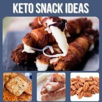 easy keto low carb snack ideas collage