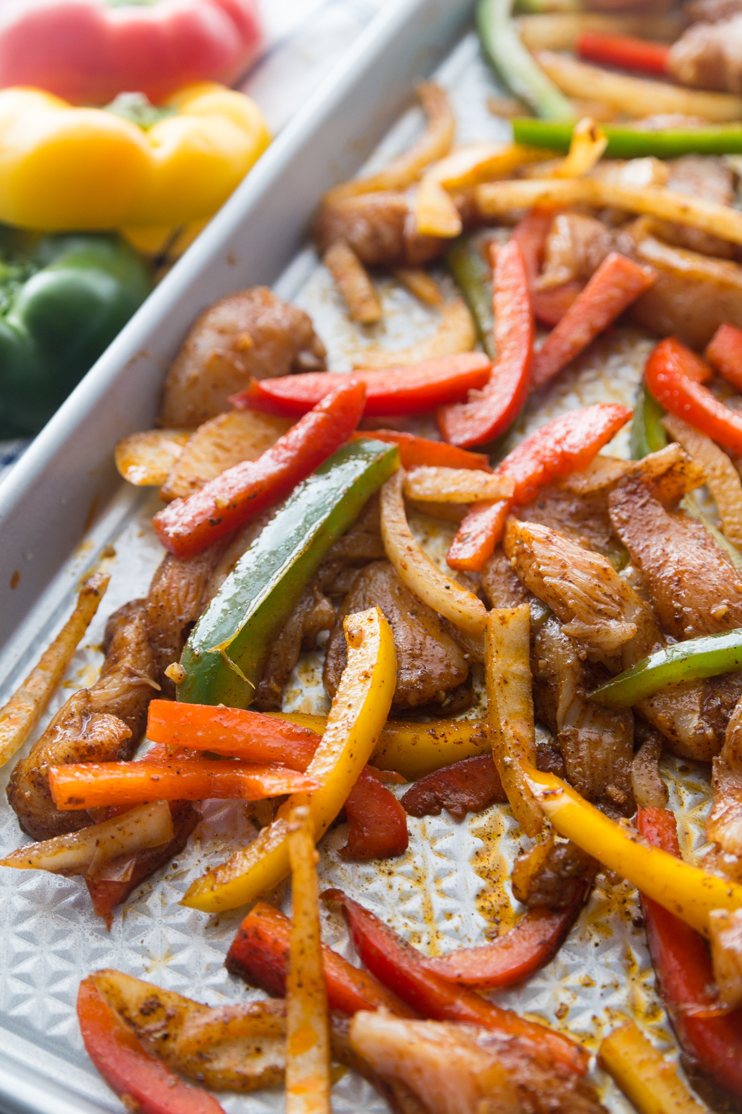 low carb baked chicken fajitas